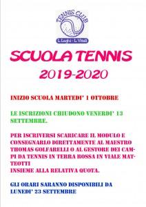 informativa laghi scuola tennis